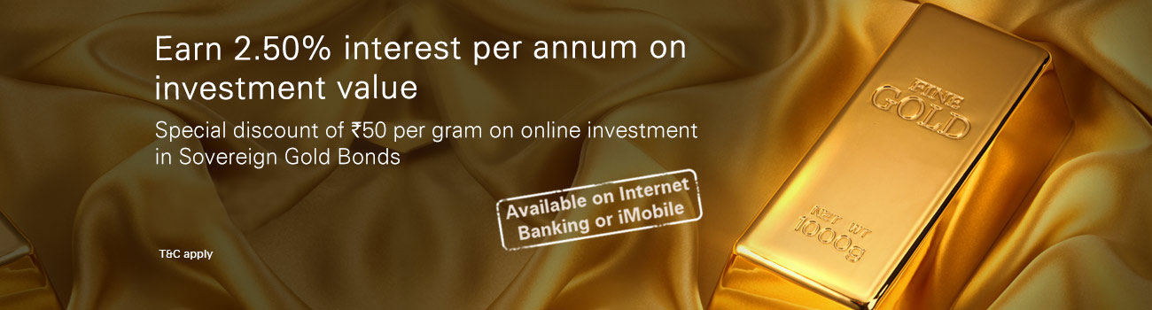 Invest in Sovereign Gold Bonds (SGBs), 2.50% p.a - ICICI Bank