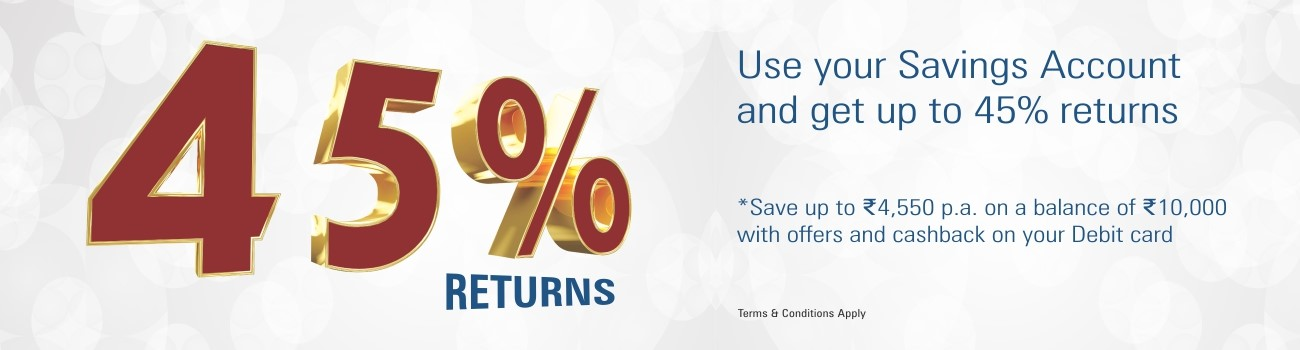 45% Returns on your Savings Account