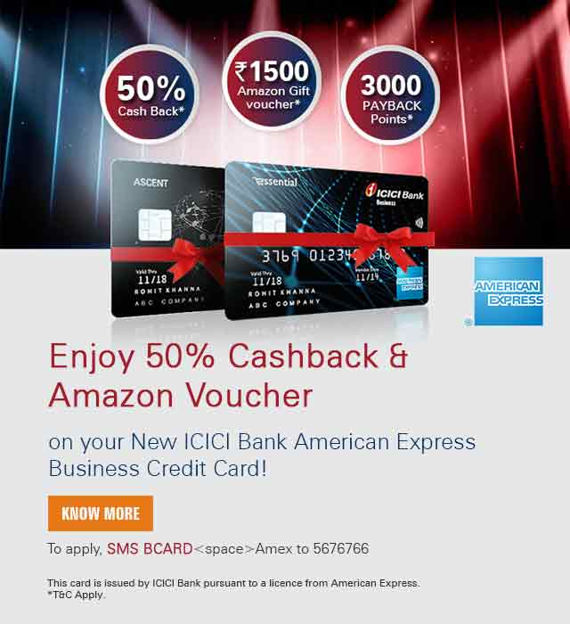 Business Credit Card Corporate Commercial Credit Card Icici Bank