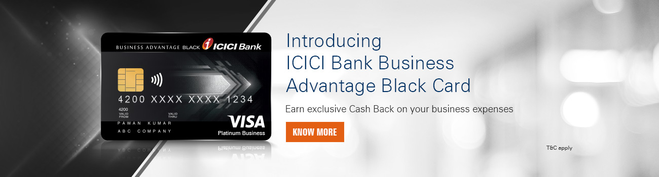 ICICI Bank Business Advantage Black Card