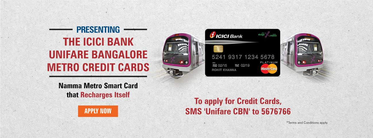 Unifare Bangalore Metro Credit Card