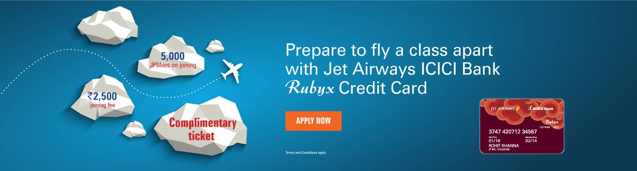 Jet Airways Rubxy Offer