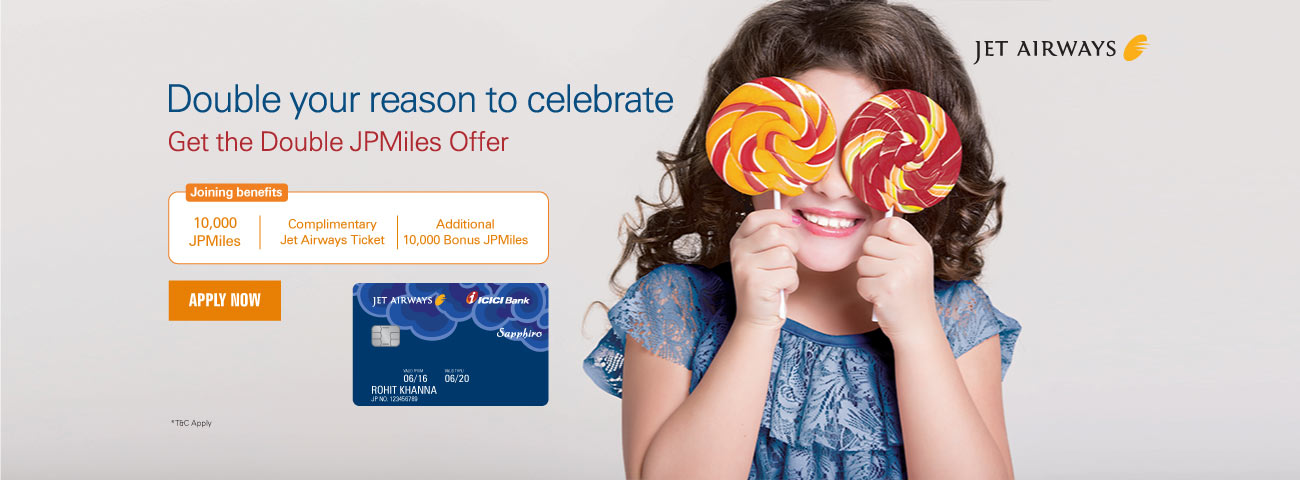 Jet Airways Sapphiro Offer
