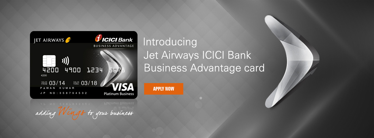 Jet Airways ICICI Bank Business Advantage Credit Card