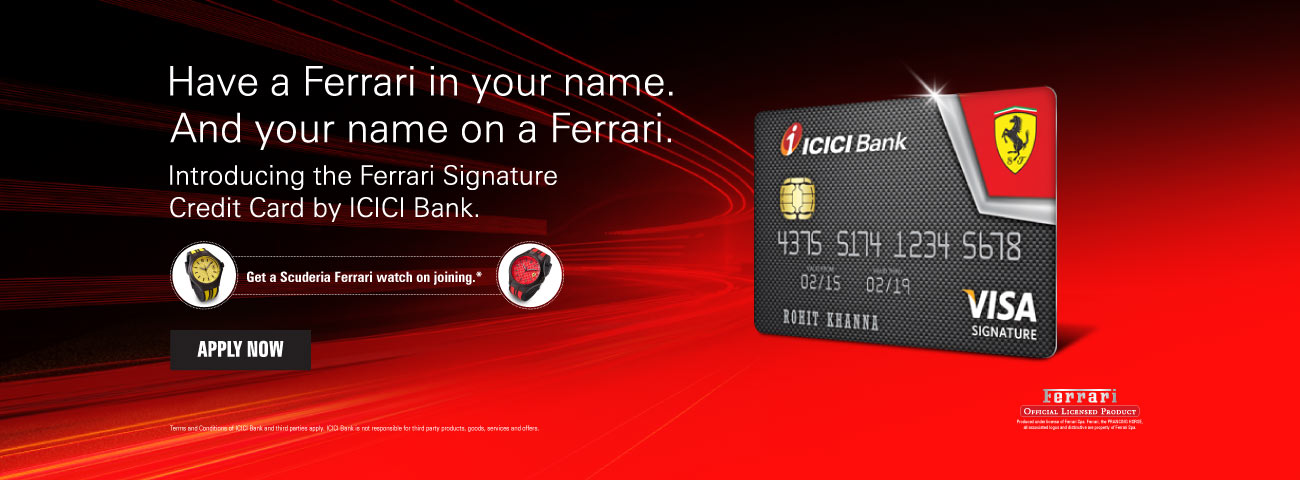 Ferrari Signature Credit Card