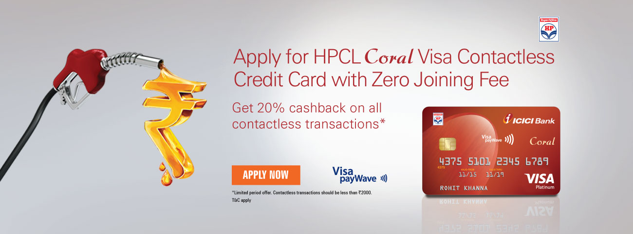 HPCL Contactless Visa Credit Card