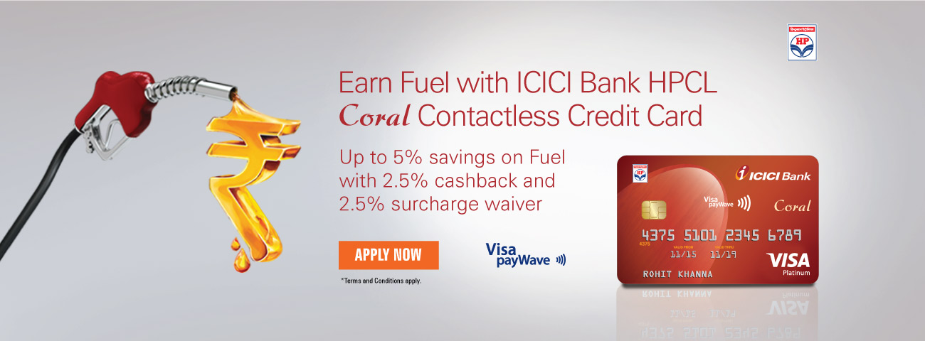 HPCL Coral Contactless Credit Card