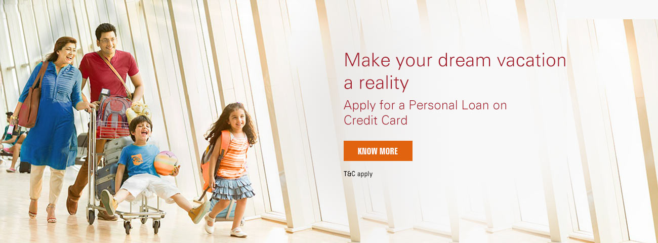 Apply Personal Loan on Credit Card