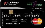 Bangalore Metro Platinum Debit Card