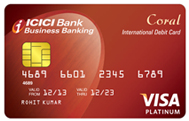 icici customer care number for coral debit card