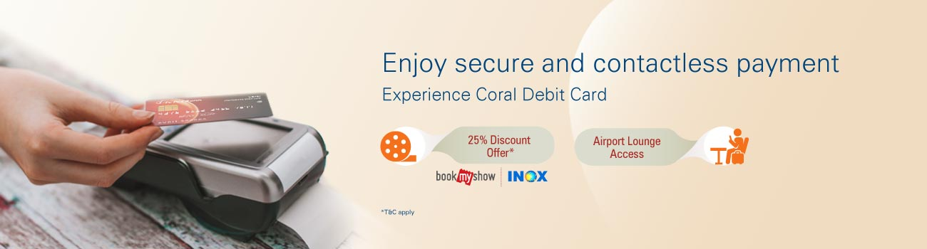 Coral Paywave Debit Card