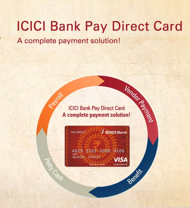 ICICI Bank PayDirect Prepaid Credit Card