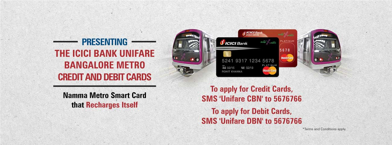 Unifare Cerdit and Debit Metro Card