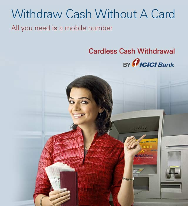 Send Cash to any Mobile Number using ICICI Cardless Cash