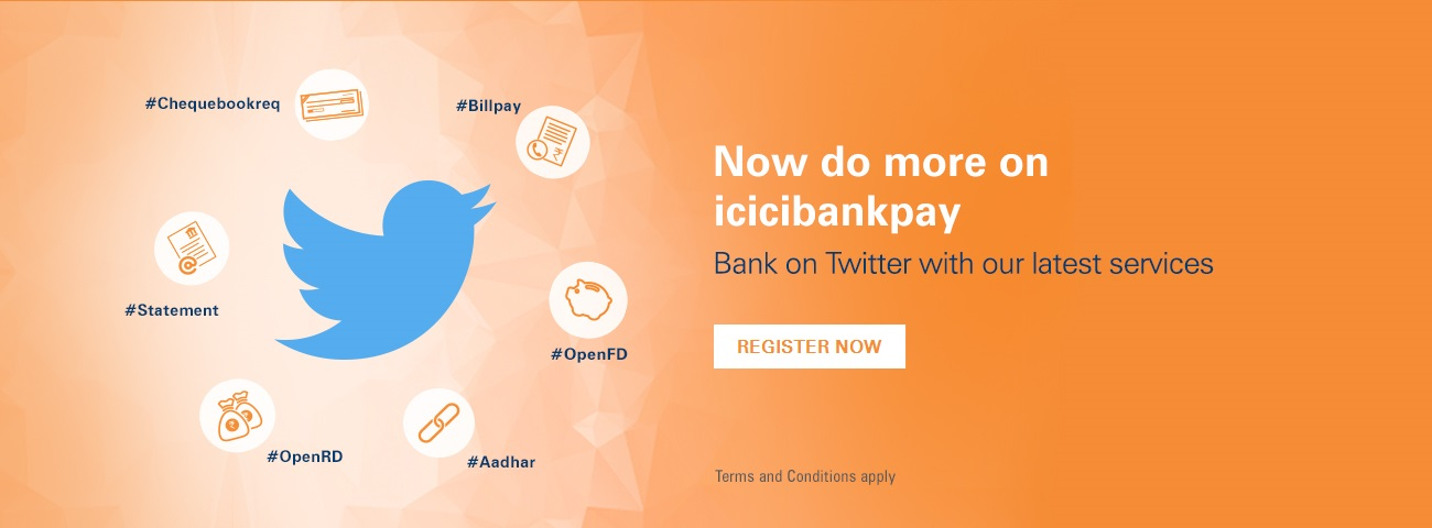 Twitter icicibankpay Services