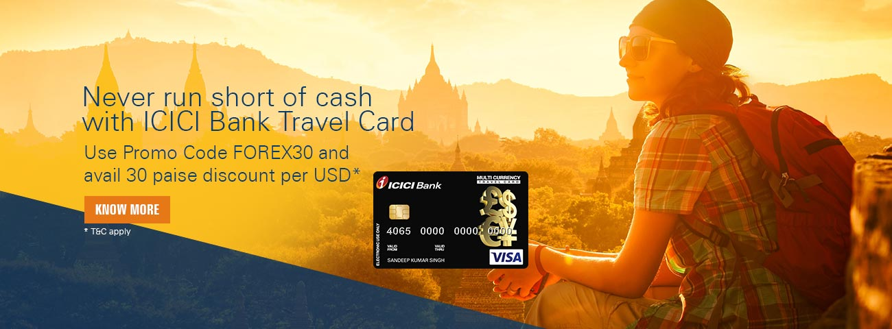 Travel forex card