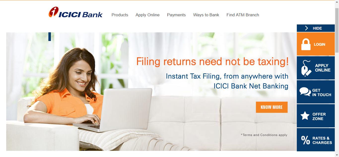 icici bank original website