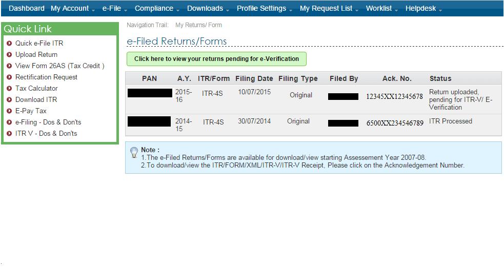 Steps for E-filing and E-verifying