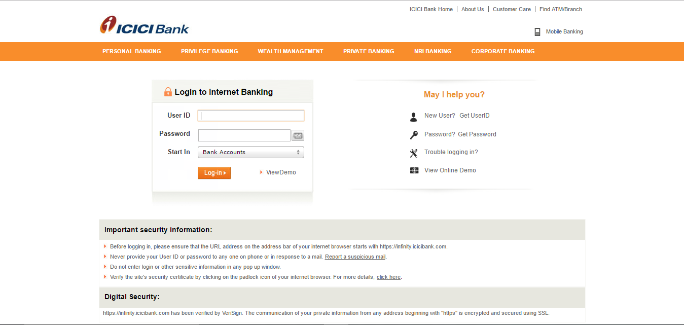 icici bank forms 2014