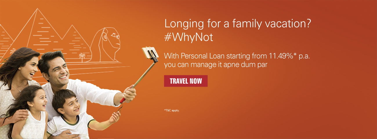 Personal loan Family Vacation