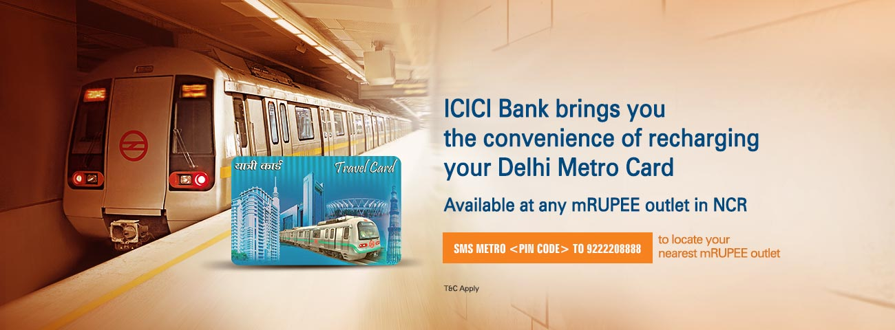 DMRC Metro Card Recharge