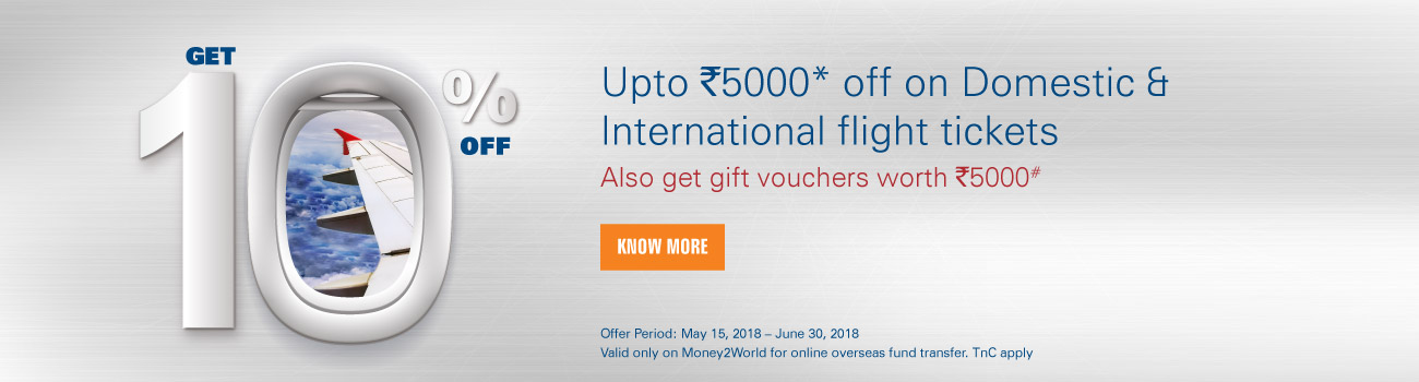 Discount on airfare offer