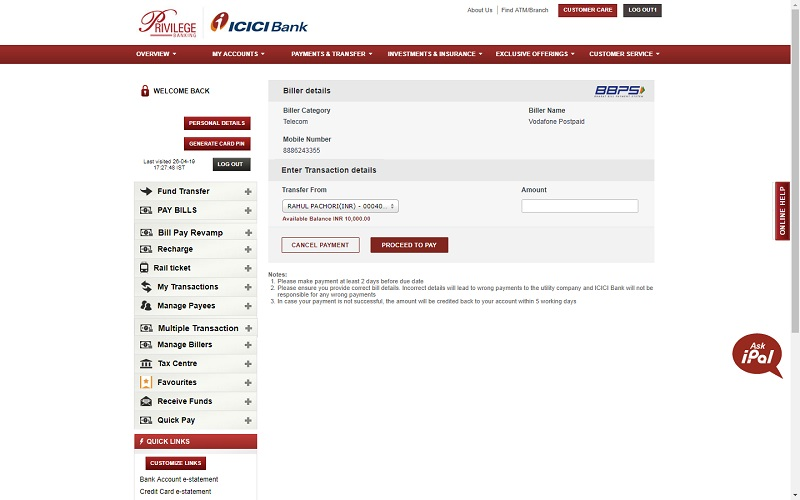 Icici bank forex transfer investment canada act wto investor
