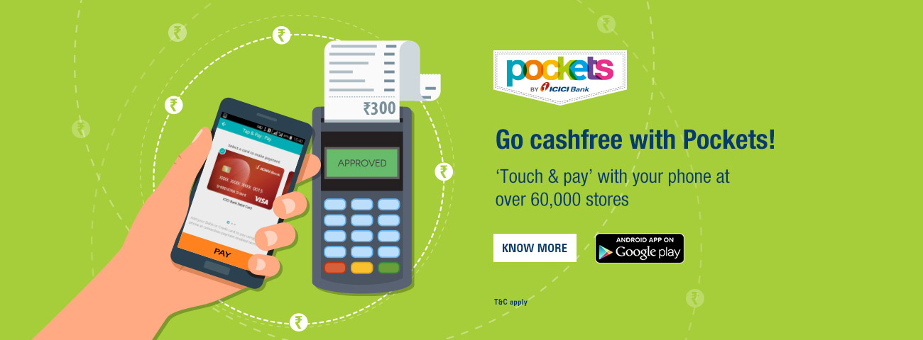 Go cashfree with Pockets