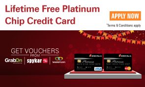 Lifetime free Platinum Chip Credit Card