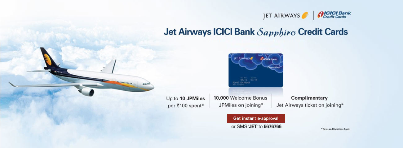 Jet Airways Sapphiro Credit Card